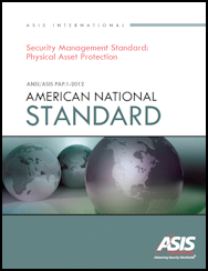 ASIS Standard: Physical Asset Protection