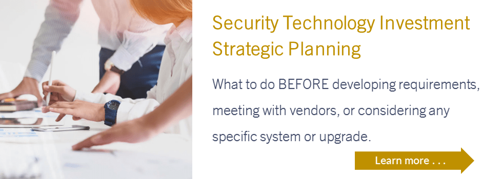 Security Technology Investment Strategic Planning
